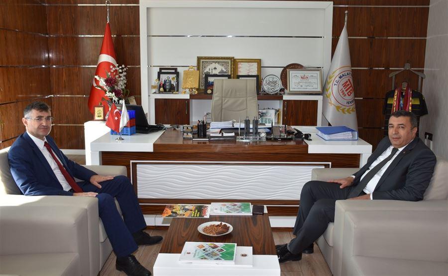 Bölge Müdürümüz Dr. Musa AYDEMİR, Ticaret Borsası Başkanı Ramazan ÖZCAN'ı Ziyaret Etti.
