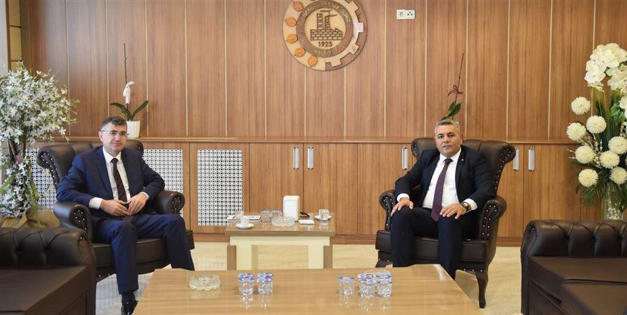 Bölge Müdürümüz Dr. Musa AYDEMİR, TSO Başkanı Oğuzhan Ata SADIKOĞLU'nu Ziyaret Etti.