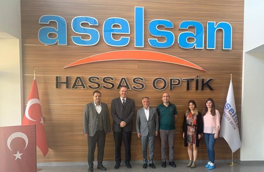 """Dış Bağlantılarımızdan Sivas Gümrük Müdürlüğünün """"Aselsan Hassas Optik Üretim Tesisi"""" Ziyareti"""