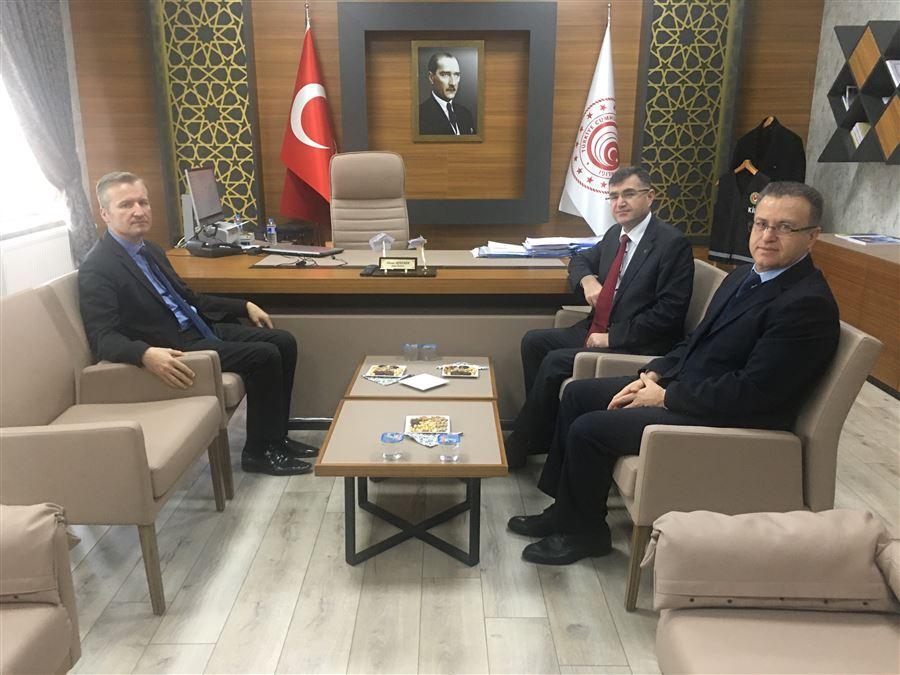 Vali Yardımcısı Sayın Mustafa ŞAHİN 'den Bölge Müdürlüğümüze Ziyaret