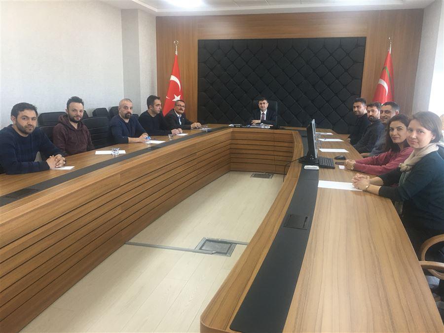 Bölge Müdürümüz Başkanlığında Malatya Gümrük Muhafaza KİM Personeli ile KOORDİNASYON TOPLANTISI