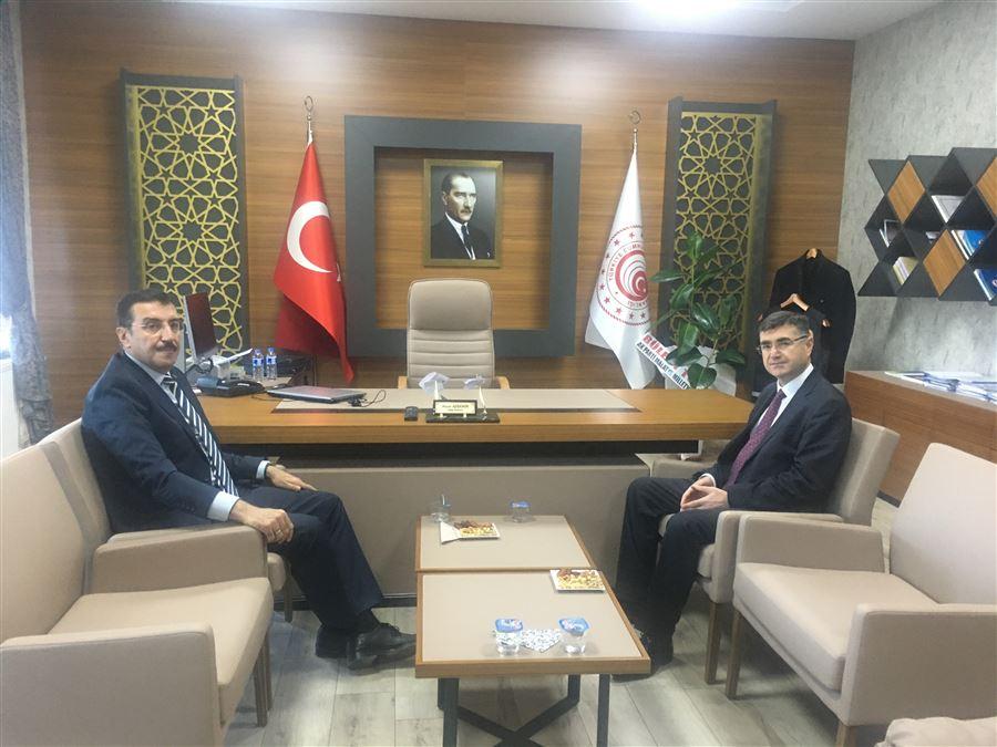 Gümrük ve Ticaret Eski Bakanı, AK Parti MKYK Üyesi ve Malatya Milletvekili Bülent TÜFENKCİ' den Bölge Müdürlüğümüze Ziyaret