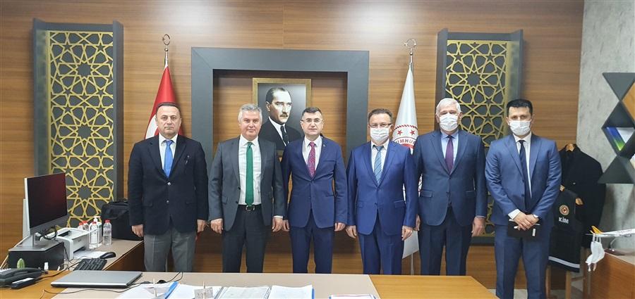 Bakanlığımız Gümrükler Muhafaza Genel Müdürlüğü Daire Başkanı Sn. Mustafa ŞAHİN'den Bölge Müdürlüğümüze Çalışma Ziyareti