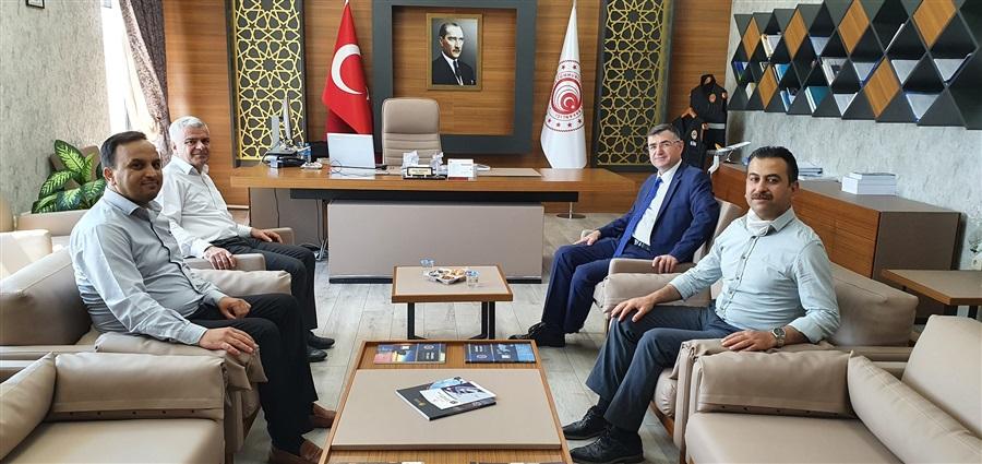 SGK İl Müdürü Tekin KUTLU, Bölge Müdürümüz Dr.Musa AYDEMİR' i Ziyaret Etti